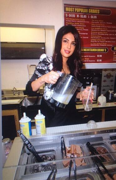 Priyanka Chopra shakes it up at Millions of Milkshakes