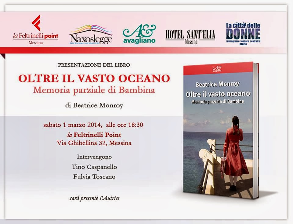 """OLTRE IL VASTO OCEANO"" : BEATRICE MONROY A MESSINA"