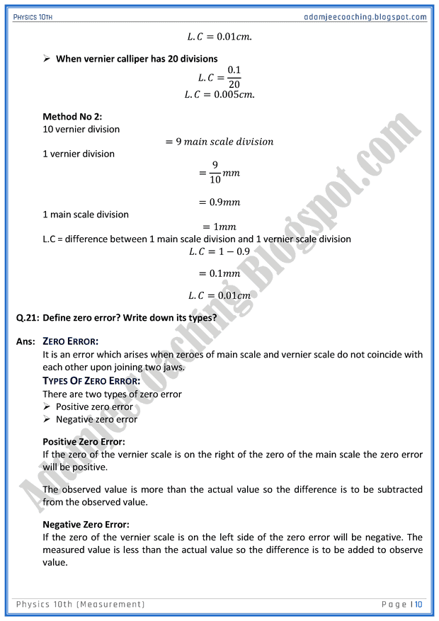 measurement-question-answers-physics-10th