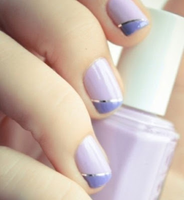 lavender nails, nail art, pinterest nails