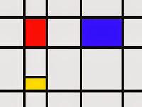 Imagen Composición rojo-azul de Mondrian . Entrada explicando las composiciones equilibradas, armónicas utilizando los tres colores primarios. Ejemplos de obras de Vermeer, Picasso, Miró y Mondrian. Ensayo escrito por Juan Sánchez Sotelo para la Academia de dibujo y pintura Artistas6 de Madrid. Clases y cursos para aprender a dibujar y pintar