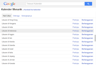 pengaturan google calendar di website