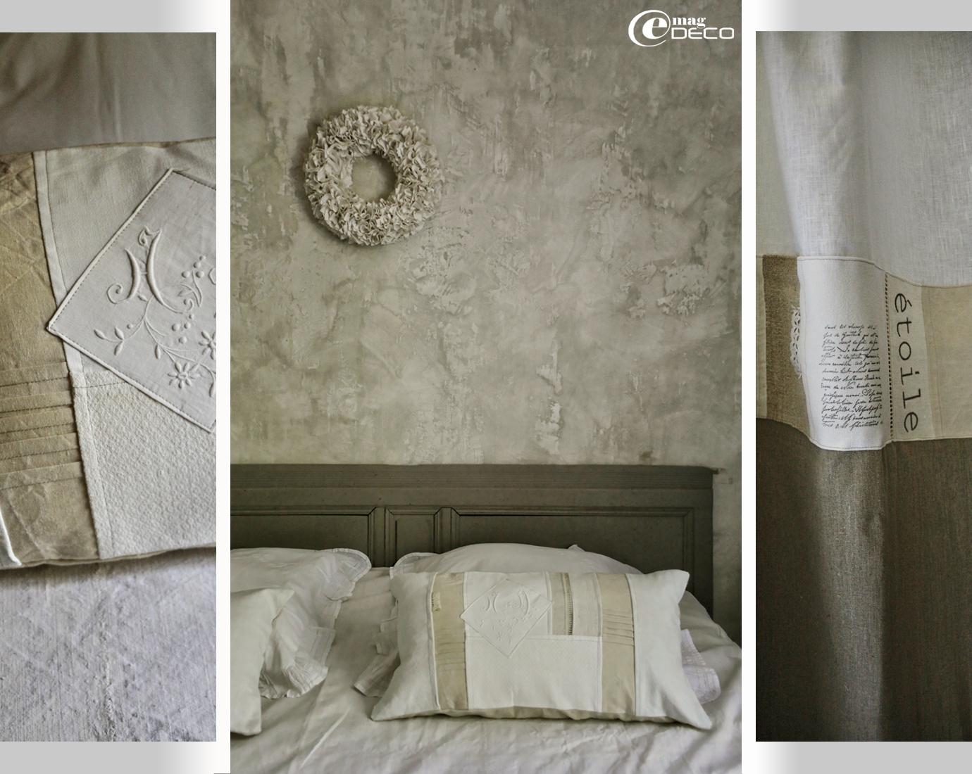 Créations de linge de maison d'Elsa Peyremorte pour Les toiles de l'une