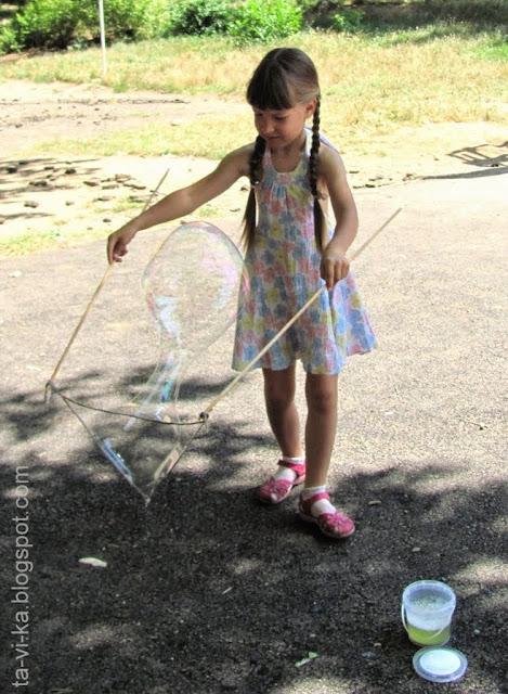 Мыльные пузыри с сахаром и