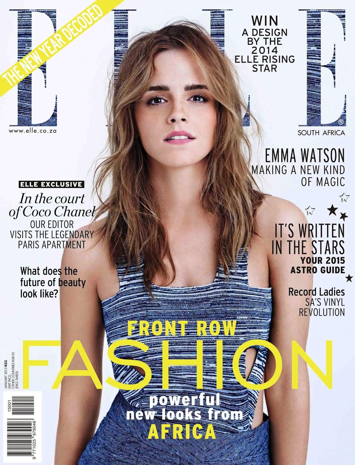 Arts Cross Stitch: Emma Watson - ELLE South Africa, January 2015