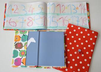 Buch- und Hefthüllen aus Stoff kinderleicht selber nähen