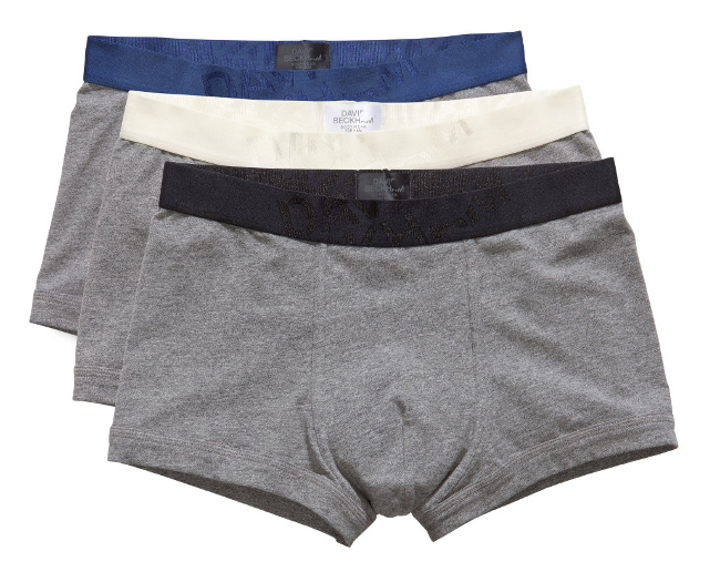 3 pack de boxer grises con banda elastica