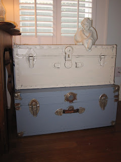 vintage shabby chic trunks