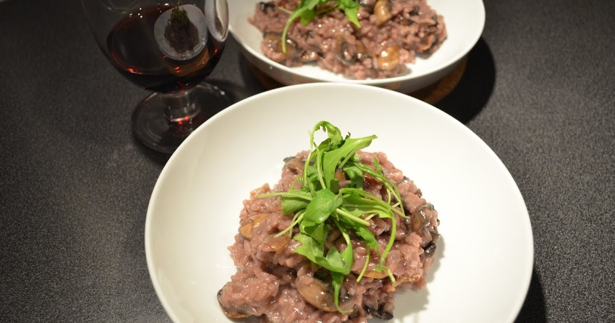 beatingbowls: Red wine, mushroom and pancetta risotto