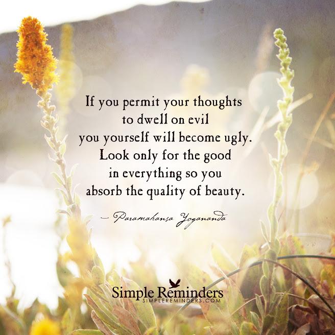 Piensa positivo.