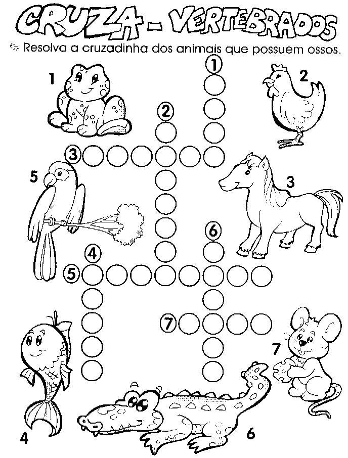 Desenho como desenhar Cruzadinhas animais pintar e colorir