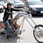 Steven Tyler  celeb on motorcycles