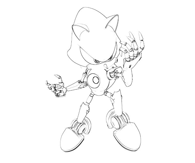Metal sonic coloring pages to print free coloring pages for Metal sonic coloring pages