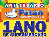 Aniversário Patão Supermercado: 1 ano de supermercado grátis