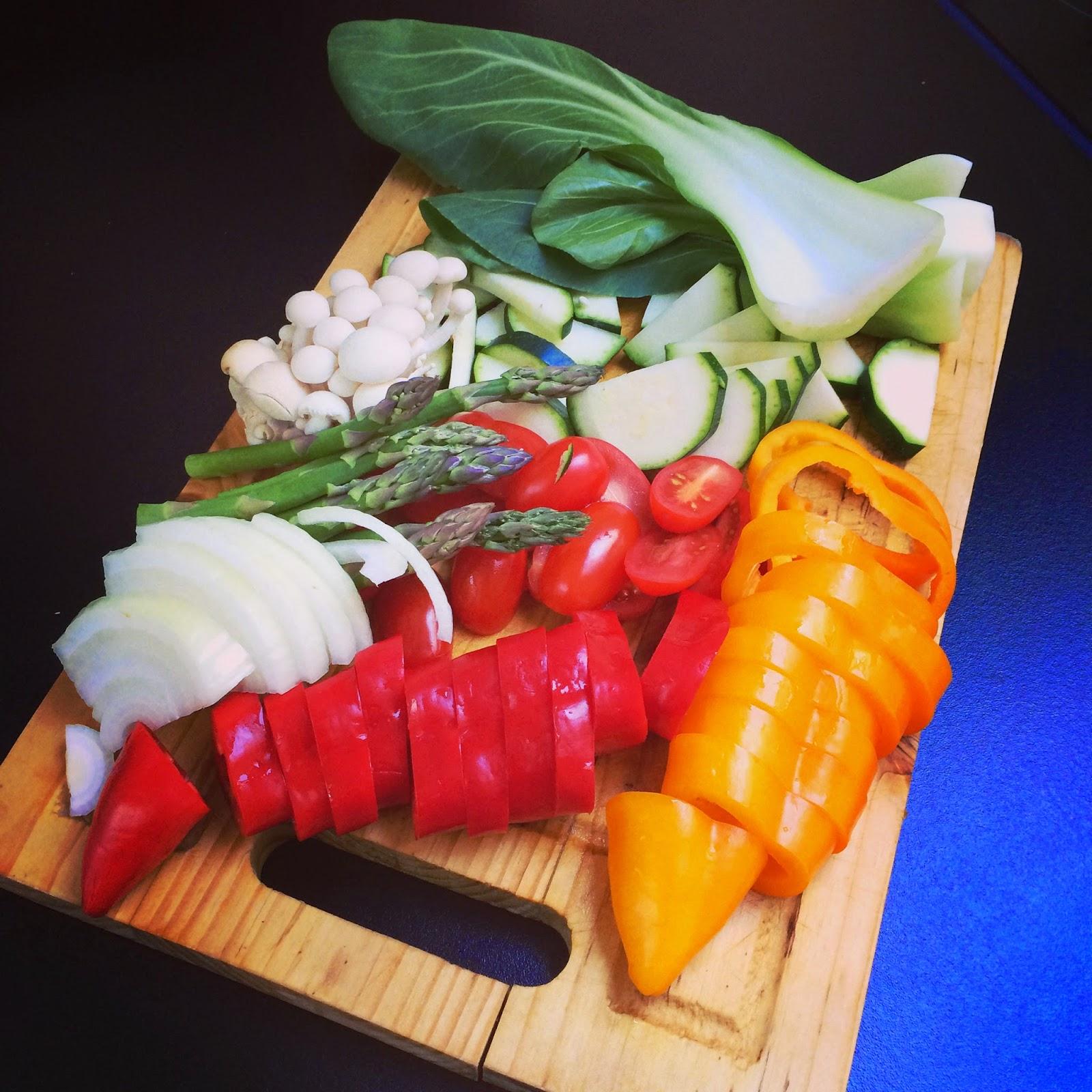 5 minutes veggie stir fry