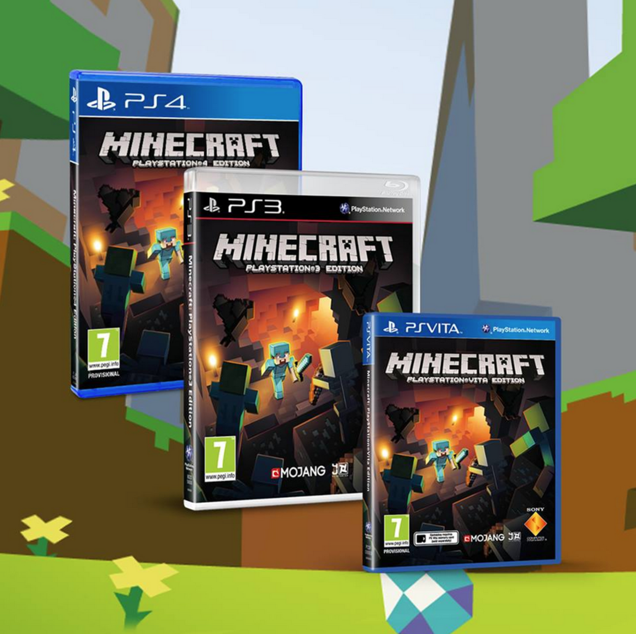 Minecraft 1 14 for the ps vita ps4 and ps3 is available now minecraft