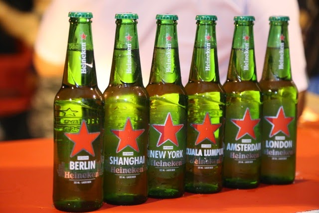 Introducing the limited edition Heineken 'Cities of the World' bottles