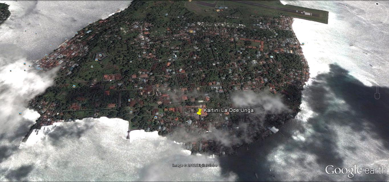 Banda Neira via Google Earth