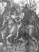 """Durer """"Il cavaliere, la morte e il diavolo"""""""