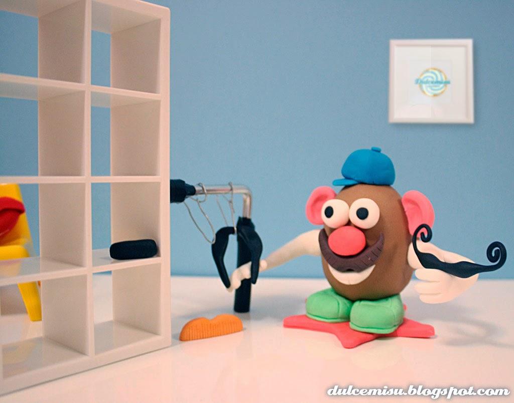 cmc, colorante gel, decoración, dulcemisu, fondant, juguete de fondant, modelar, MR. Potato, tutorial para hace un potato, pegamento comestible, pasta de goma, pasta de modelar