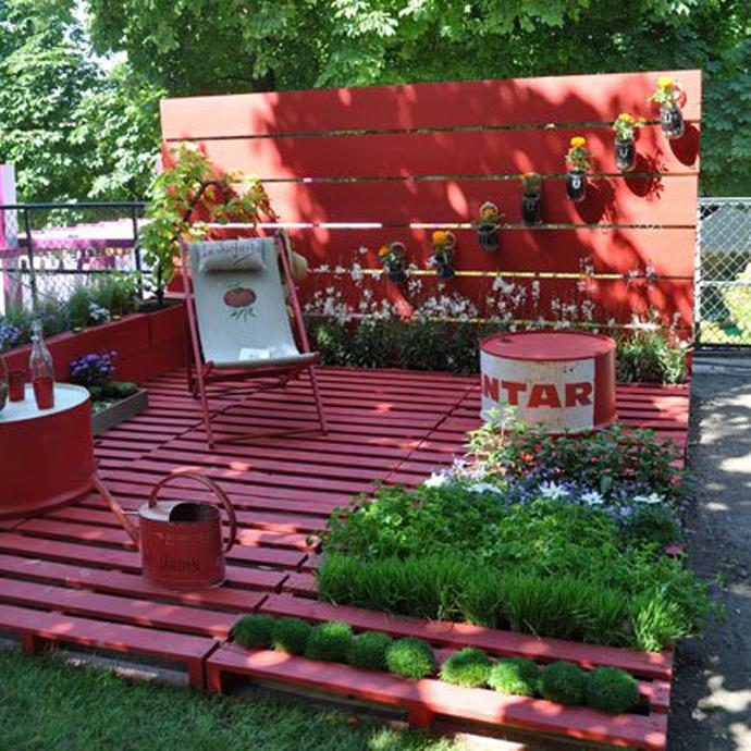 decoracao jardim paletes : decoracao jardim paletes: : Como usar Paletes de Madeira recicladas para decorar o seu Jardim