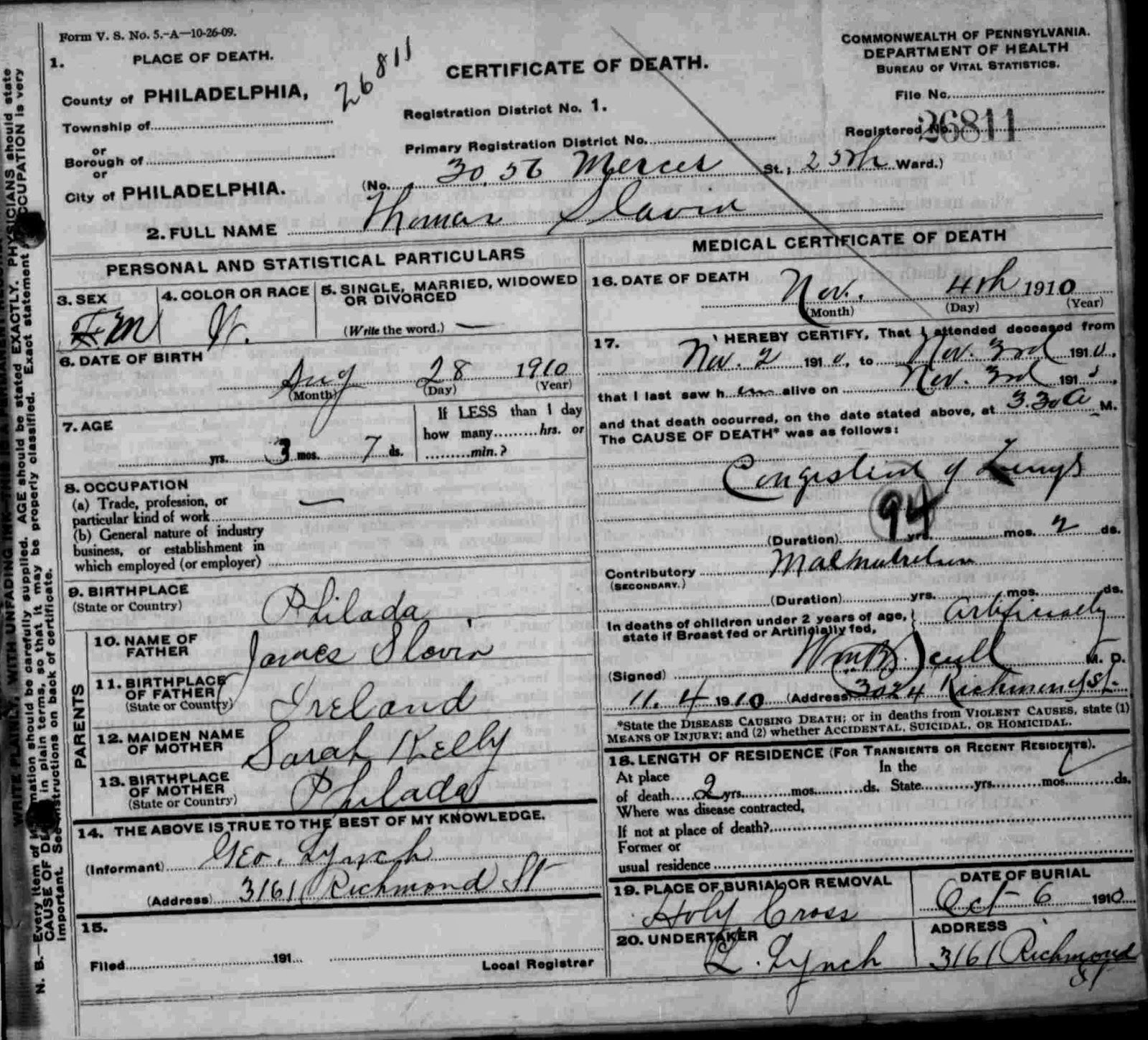 Research hint philadelphia death and birth records phila 1906 jan 28 1912 philadelphia pa d jul 16 1912 philadelphia pa 1betcityfo Gallery
