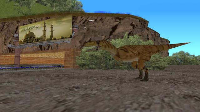Untuk menemukan dinosaurus ini, silahkan lihat peta berikut :