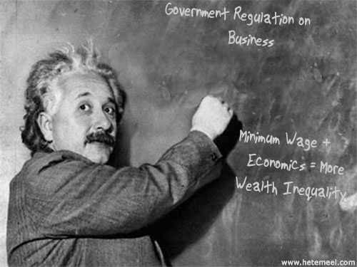 Image of Einstein writing economics.