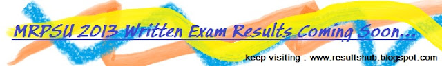 MRPSU 2013 April New Result Details Online Written Exam