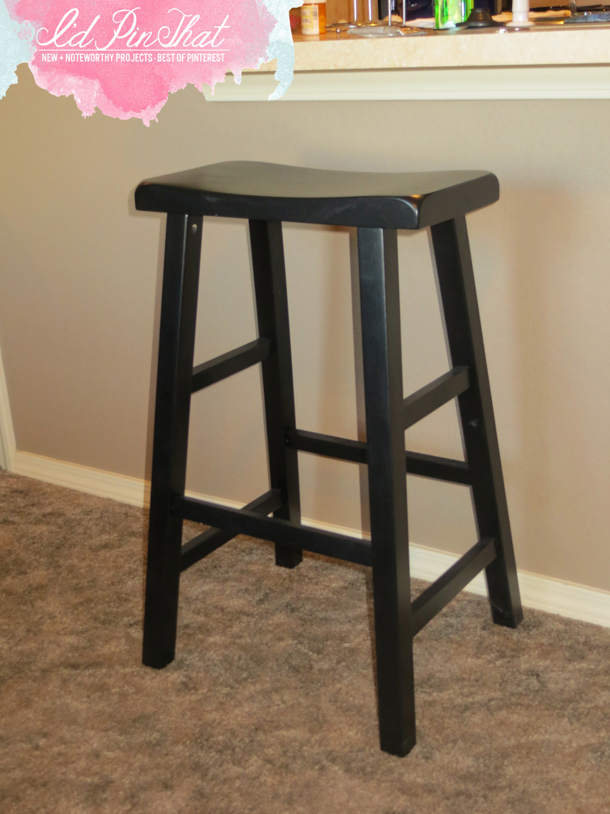 Bar Stool Face Lift. Full resolution  image, nominally Width 1200 Height 1600 pixels, image with #C4073E.