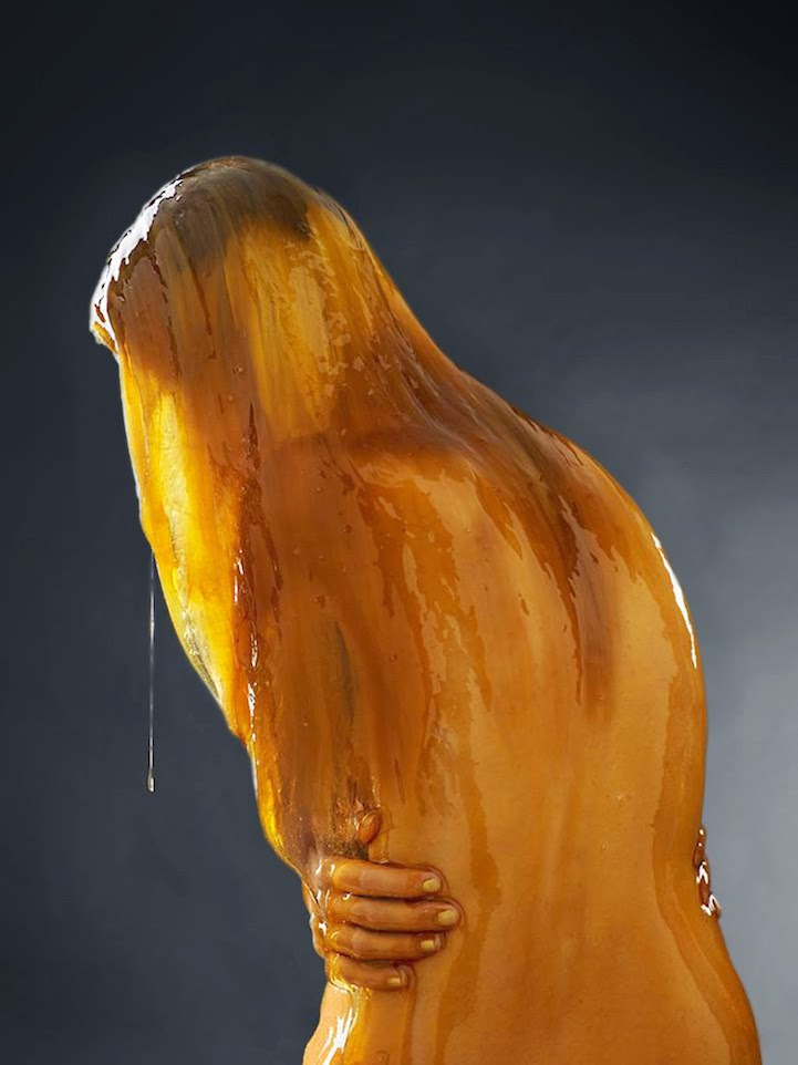 model covered in honey blake littles-5