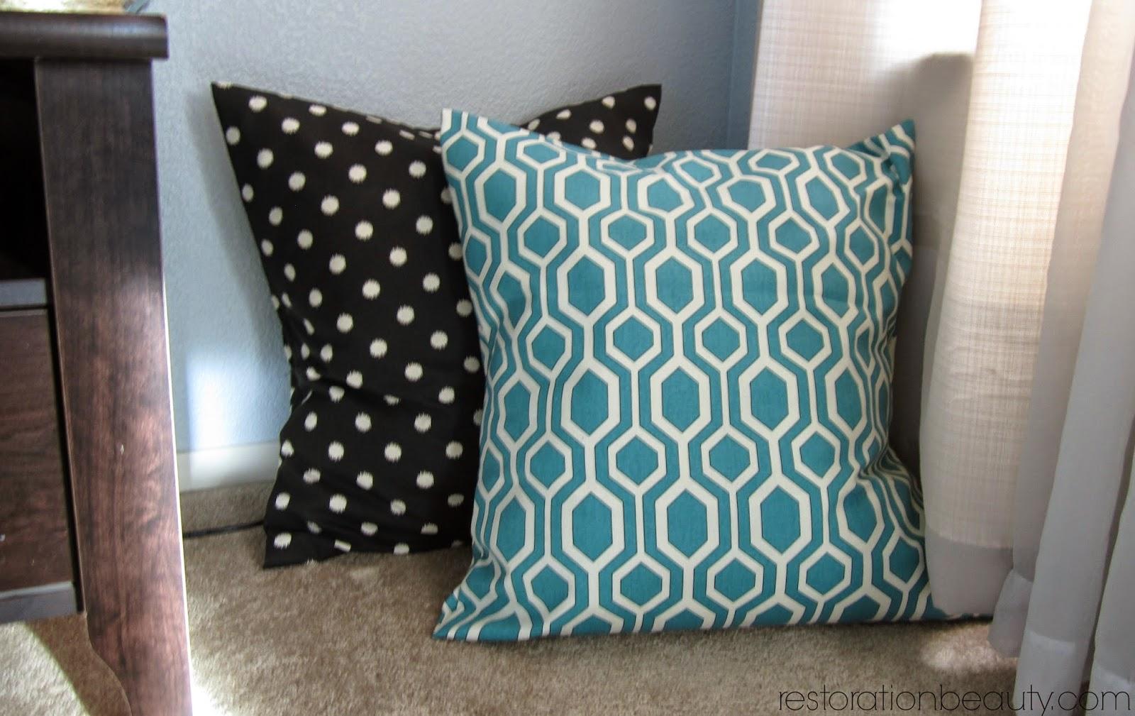 Restoration Beauty Easier Than Ever NoSew Floor Pillows