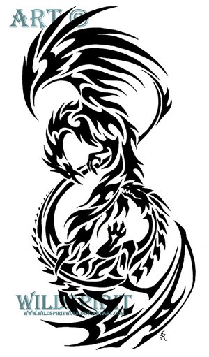 Tribal Phoenix Tattoo Designs for Men