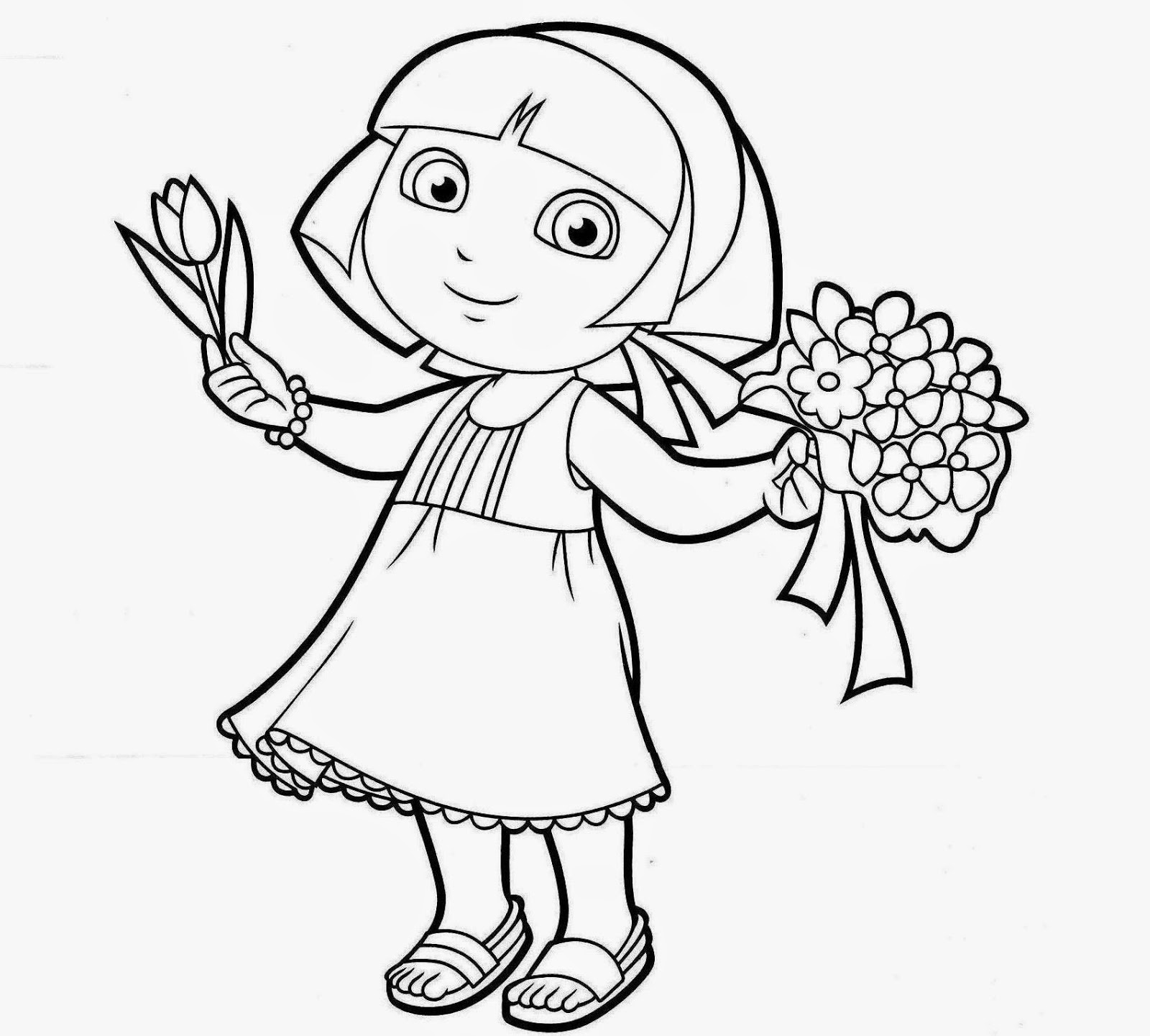 coloring pages dora princess - photo#26