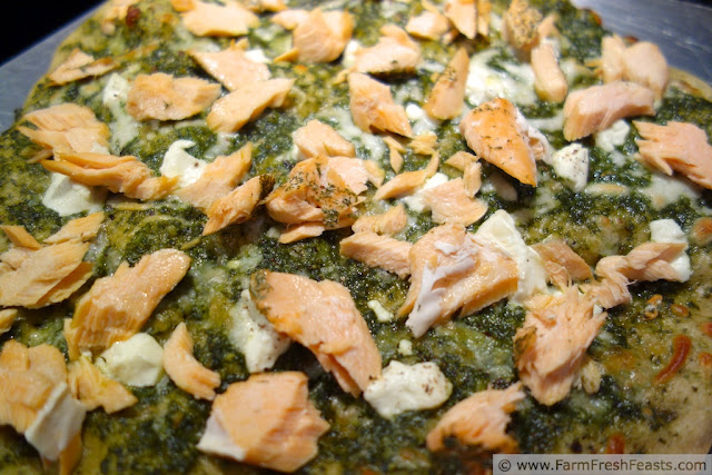 http://www.farmfreshfeasts.com/2013/03/salmon-and-goat-cheese-on-arugula-pesto.html