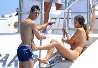 According to Daily Mail Online report, together with his Supermodel girlfriend, Irina Shayk, 26, in a red bikini, Cristiano Ronaldo, 27, takes distance from the turbulent weeks of training and relaxing at Saint-Tropez.