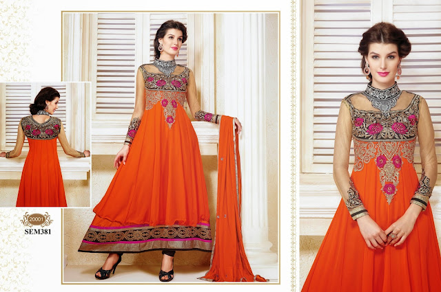 Buy Online Designer Embroidery Anarkali Suit