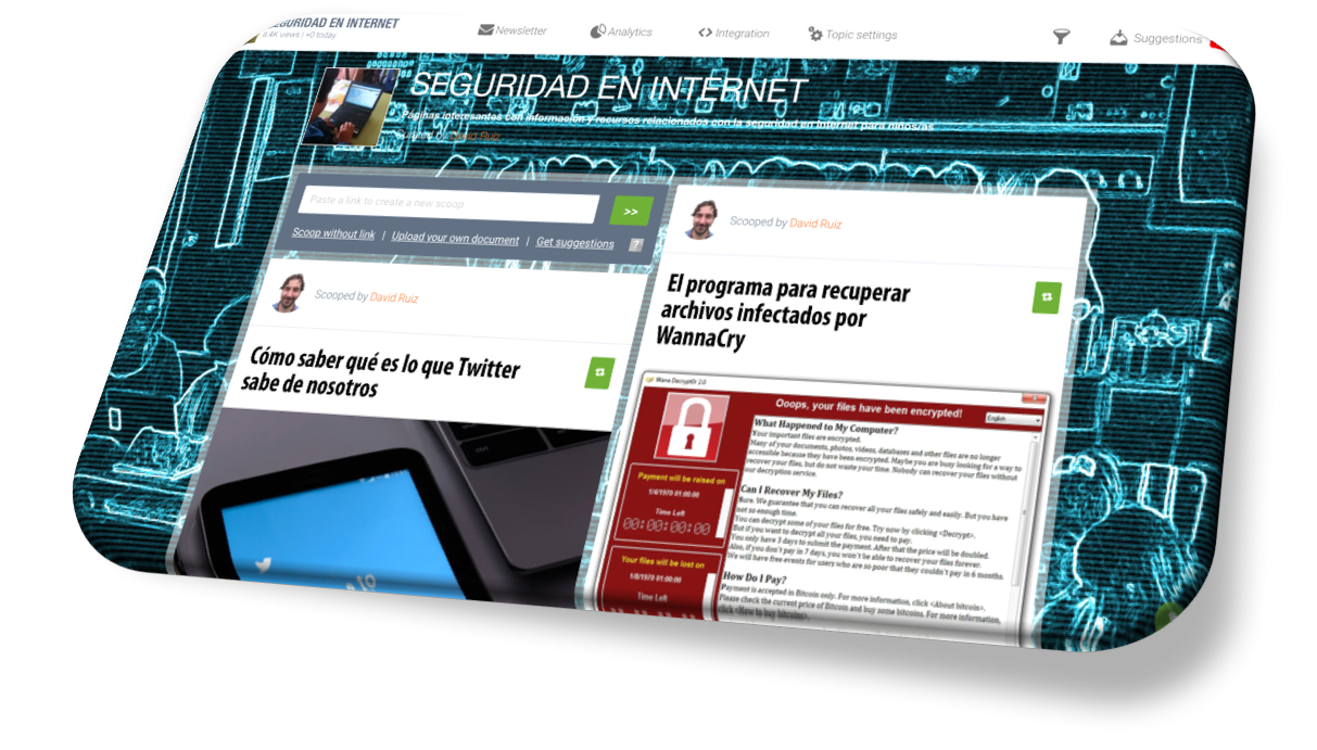 SCOOP-IT SOBRE SEGURIDAD EN INTERNET