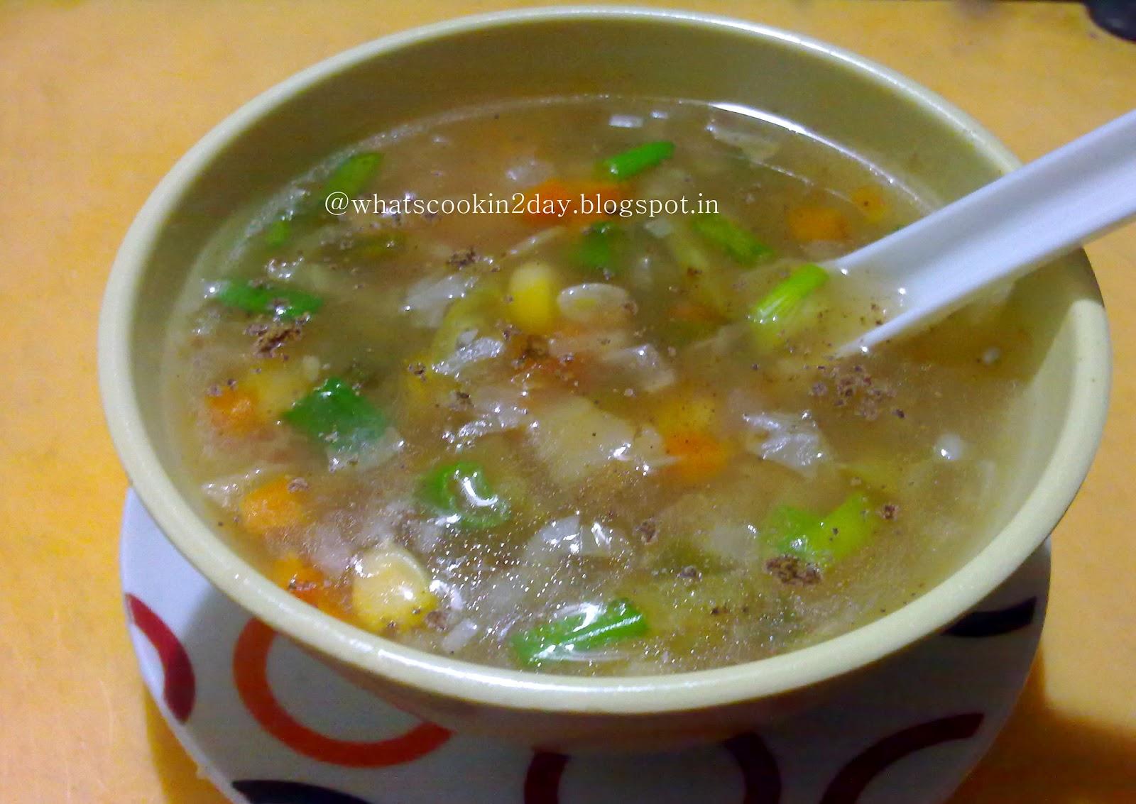 PAVITRA'S KITCHEN: Veg Sweet Corn Soup
