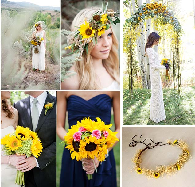 Beautiful wedding flowers inspiration of sunflowers as wedding lets enjoy these creative sunflowers wedding flowers ideas for summer and fall wedding party it can be a single one a small bouquet or large bouquets junglespirit Image collections