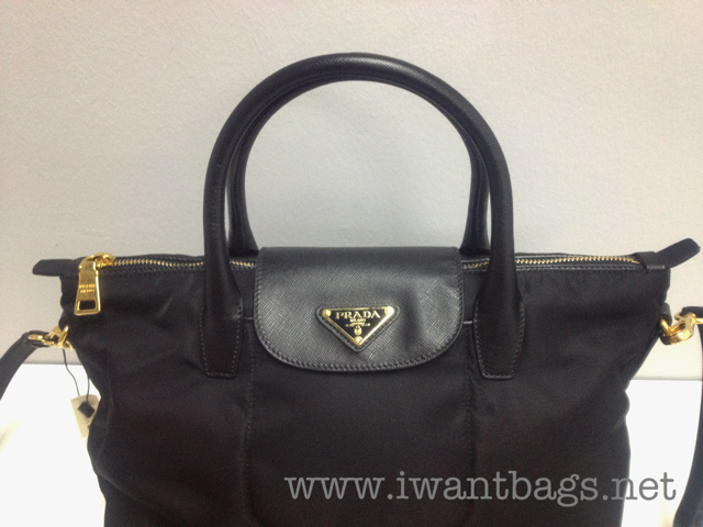 prada laptop backpack - Prada Tessuto Saffiano Nylon Top Handle 2 Way Tote BN2106 - Nero ...