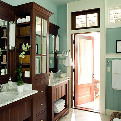 Bathrooms that are teal and brown interior decorating for Teal and brown bathroom decor