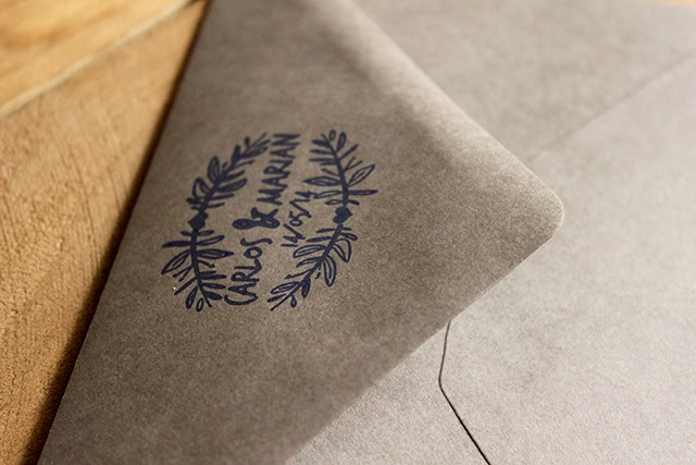 invitaciones de boda originales sobres gris elefante hermanasbolenashop
