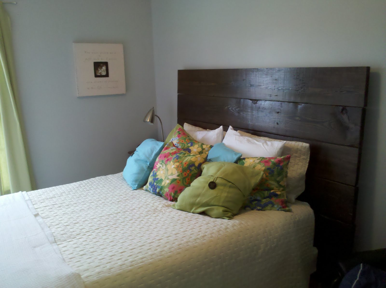 Reclaimed wood headboards on pinterest reclaimed wood for Modern headboard diy