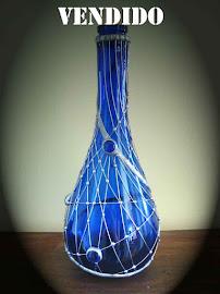 Botellón azul