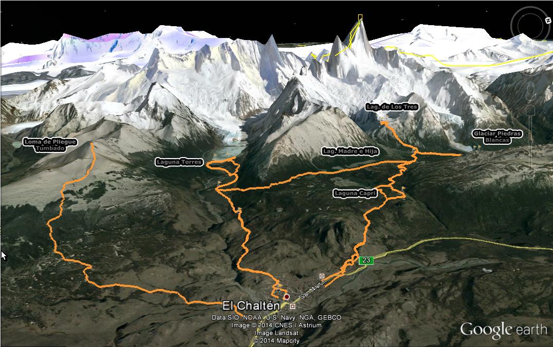 Senderos El Chalten, trekking