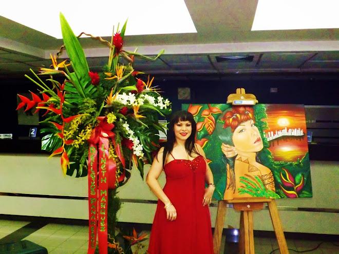 Con mi obra Equilibrio en la exposición REFLEJOS PANAMEÑOS con el auspicio del Banco Nacional