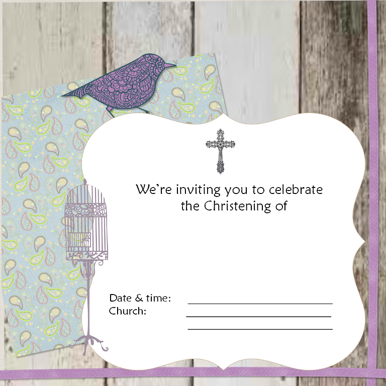 Christening Card for Baby Girls