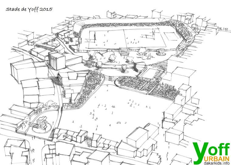 Een nieuw eco-stadion in Yoff