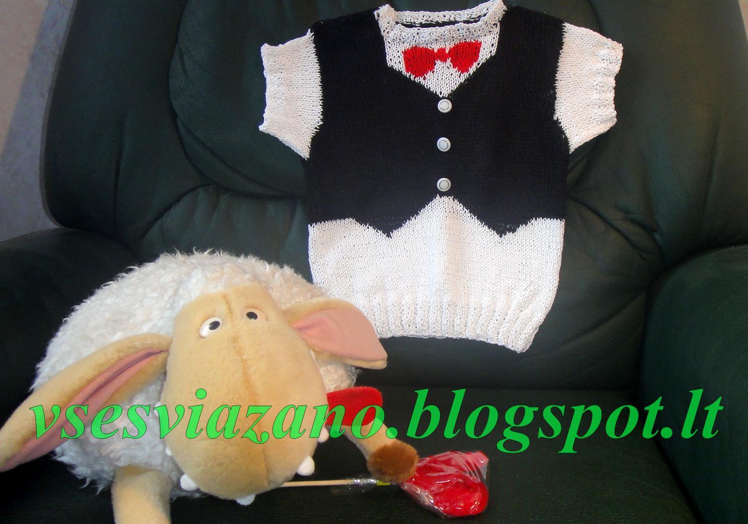 Пуловер для малыша связать